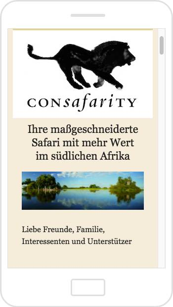 Consafarity email newsletter on mobile devices