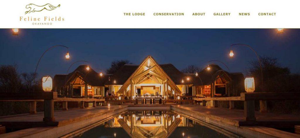 Feline Fields website design