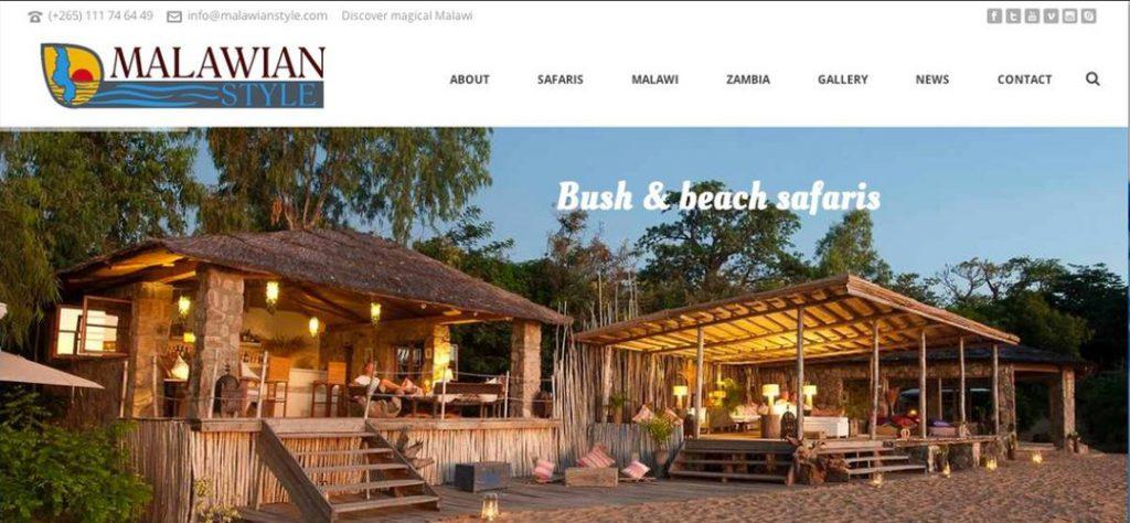 Malawian Style website design