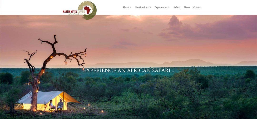 Martin Meyer Safaris website redesign