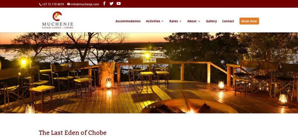 Muchenje Safari Lodge website design