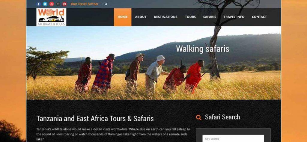 World Air Travel & Tours web design & SEO