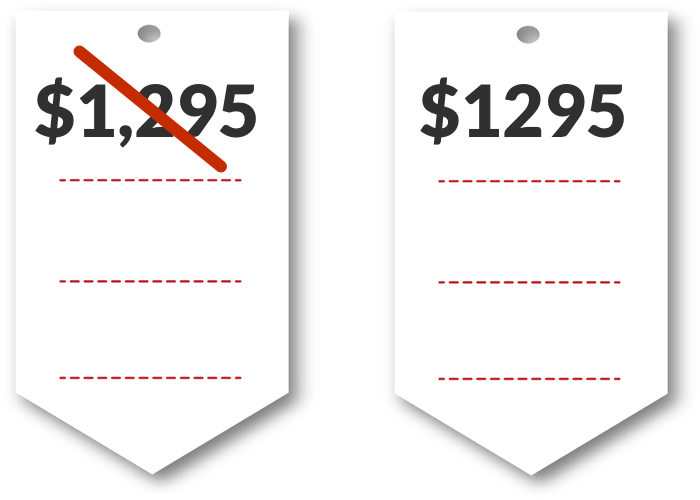 Removing comma from price