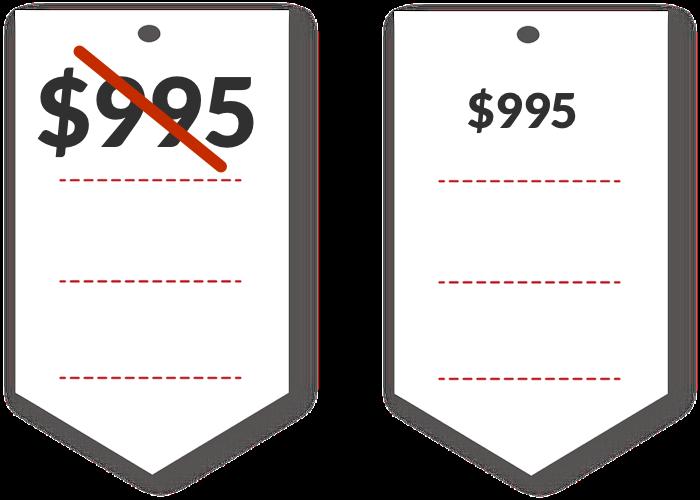 Reduce price font size