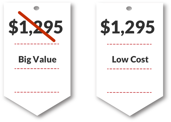 Use words to make price seem lower