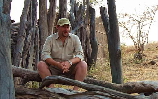 David Brown at the safari camp he managed