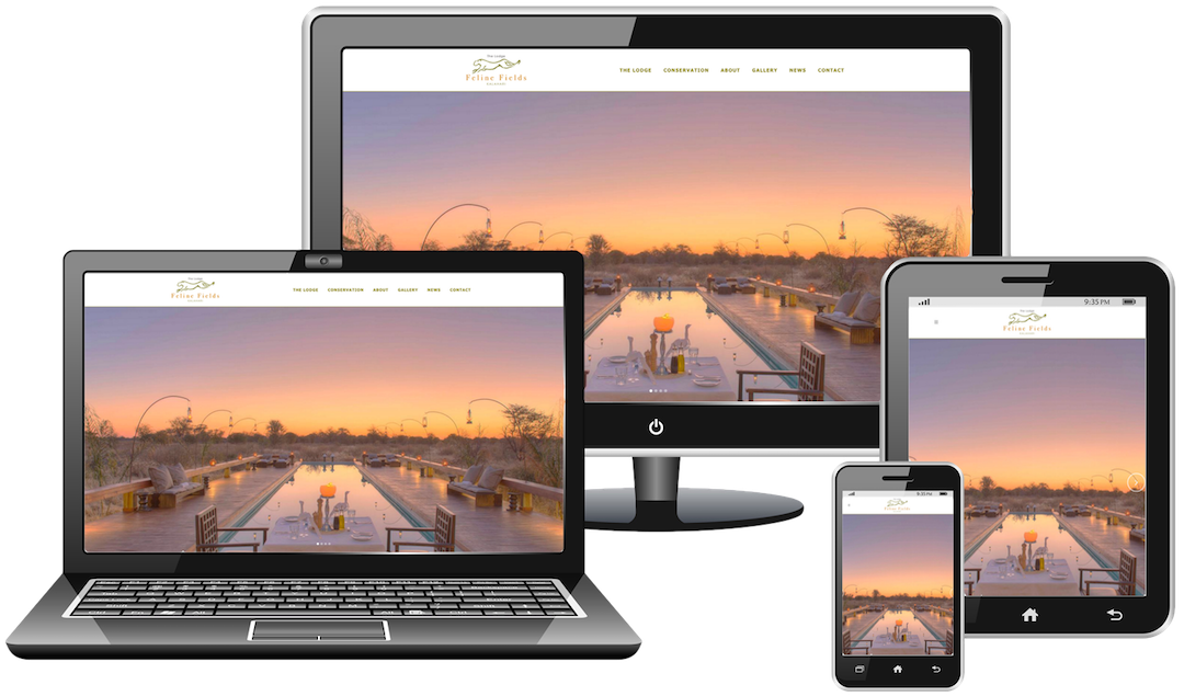 Responsive web design for safari lodge