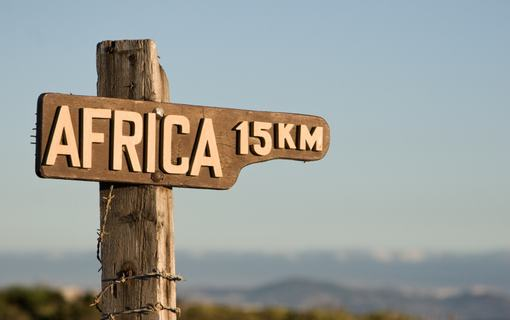 Africa signpost