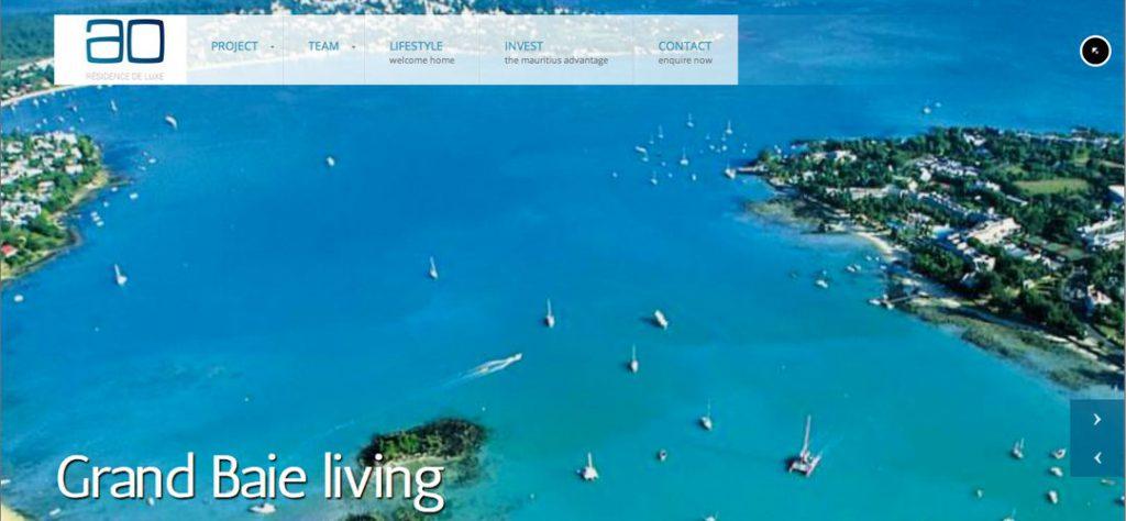 AO Residence de Luxe web design