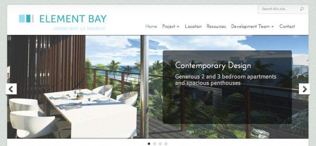 Element Bay web design