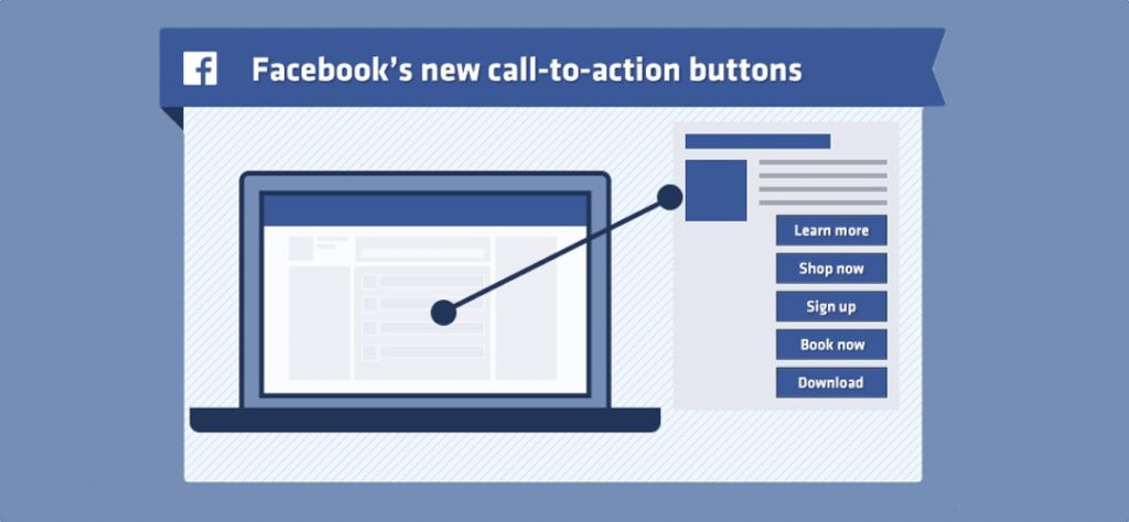 Facebook call to action buttons
