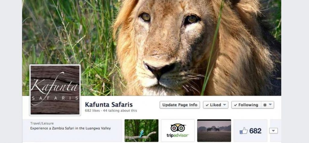 Kafunta Safaris Facebook Page