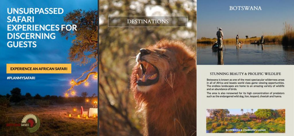 Martin Meyer Safaris tour operator brochure