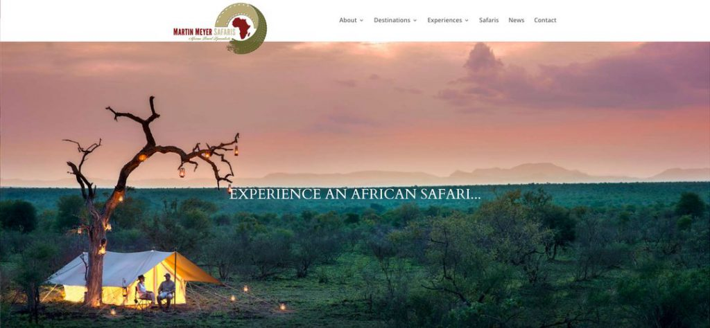 Martin Meyer Safaris website redesign