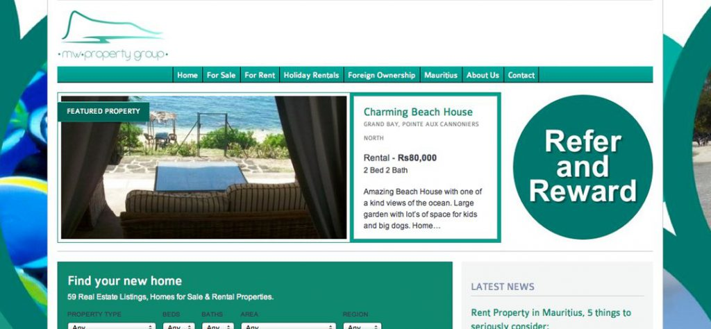 MW Property web design