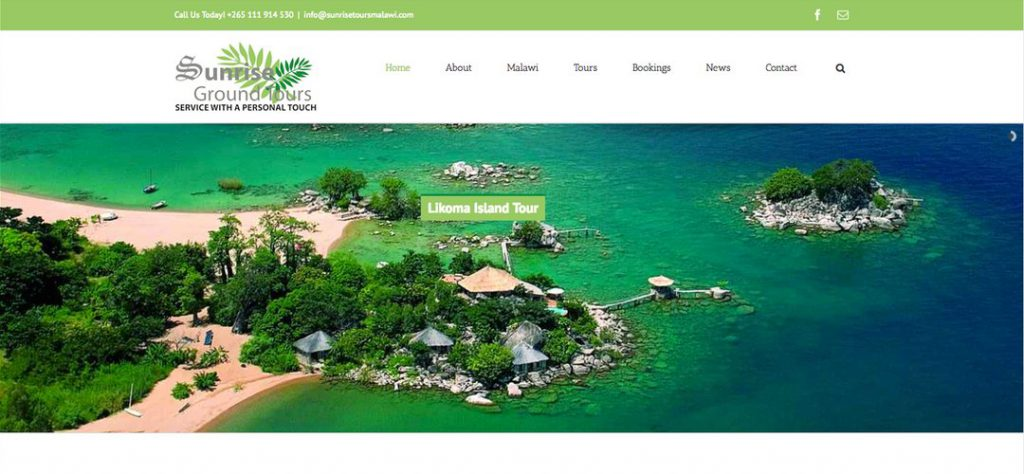 Sunrise Ground Tours web design