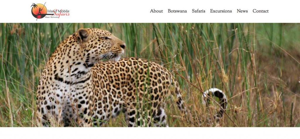 Island Mobile Safaris web design