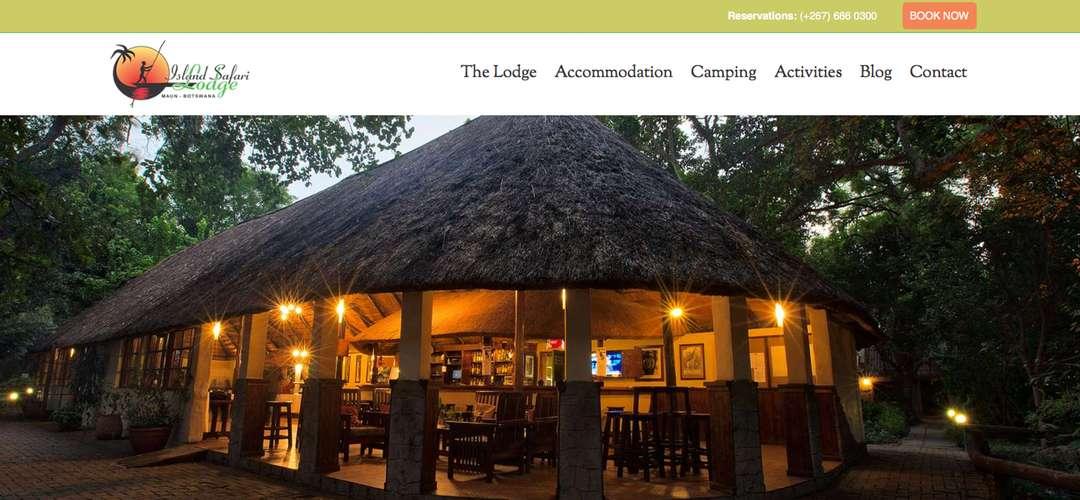 Island Safari Lodge website banner