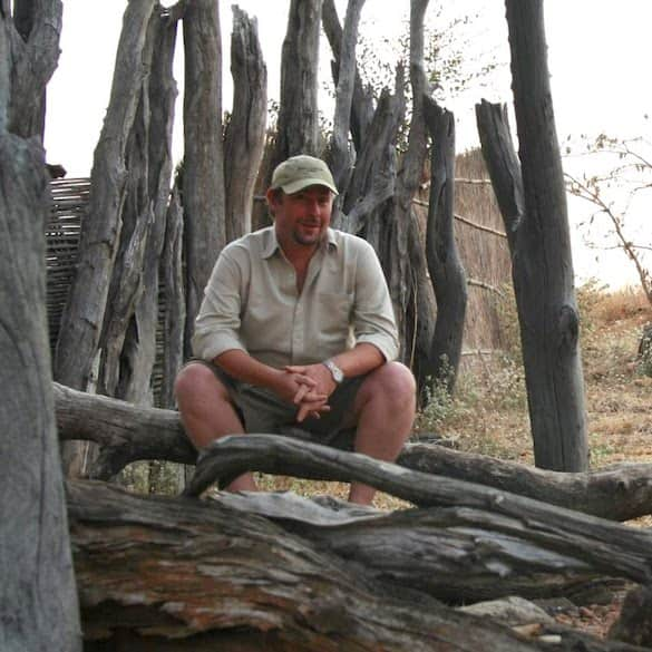 David Brown at Puku Ridge Tented Camp, Zambia