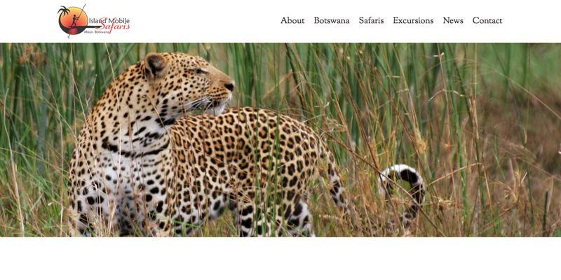 Island Mobile Safaris website banner