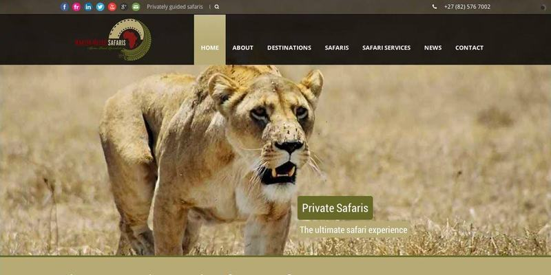 Martin Meyer Safaris website banner