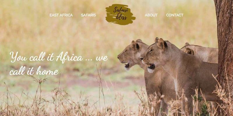 Safari Bliss website