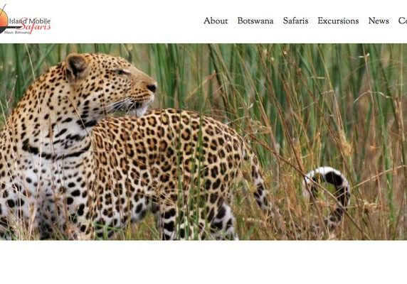 Island Mobile Safaris website banner