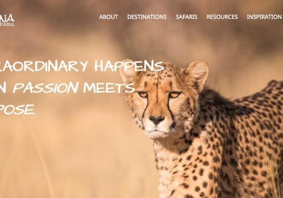 Ksana Safaris website banner