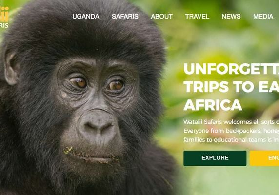 Watalii Safaris website banner